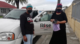 Donation Of PPE Masks To Rise Against Hunger